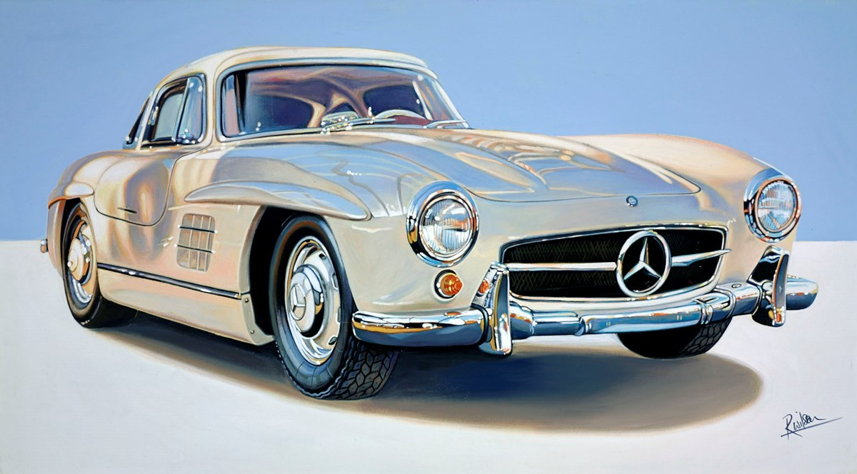 1955 Mercedes Gullwing by roz wilson -  sized 36x20 inches. Available from Whitewall Galleries